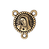 TierraCast 2 to 1 Link, Our Lady, Rosary, Antiqued 22kt Gold Plated Pewter