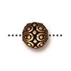 Casbah Bead 7mm Antique Gold Plated Pewter TierraCast