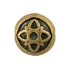 Celtic Motif Antique Brass Plated Pewter Bead, 12mm