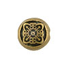 Filigree Motif Antique Brass Plated Pewter Bead, 8mm