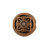 Filigree Motif Antique Copper Plated Pewter Bead, 8mm
