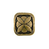 Square Geometric Antique Brass Plated Pewter Bead, 8.5mm