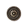 TierraCast Button, Bali Design, 18mm, Antique Brass Oxided Pewter