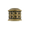 Link Patterned Brass Plated End Cap, Antique Finish