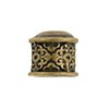 Scroll Patterned Brass Plated End Cap, Antique Finish