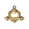 22kt Gold Plated and Antiqued Pewter Clasp Sacred Heart TierraCast