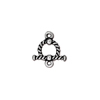 Antiqued Silver Plated Pewter Twisted Toggle Clasp 10mm