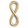TierraCast Infinity Loop Link 22kt Bright Gold Plated Pewter