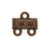 Jasmine Pattern 2-1 Pewter Link, Copper Plated, Antique Finish