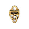 TierraCast Link End Celtic Design, 22kt Gold Plated Pewter