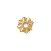 TierraCast Rivetable 8 Points Star, 22kt Bright Gold Plated Pewter 11mm