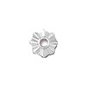 TierraCast Rivetable 8 Points Star, Rhodium Plated Pewter, 10.5mm