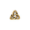 TierraCast Rivetable Celtic Charm, Antiqued 22kt Gold Plated Pewter 11mm