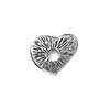 TierraCast Rivetable Open Heart, Antiqued Pewter 13mm