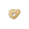 TierraCast Rivetable Heart, 22kt Bright Gold Plated Pewter 13mm