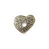 TierraCast Rivetable Open Heart, Brass Oxide Pewter 13mm