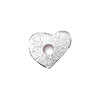 TierraCast Rivetable Open Heart, Rhodium Plated Pewter 13mm