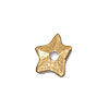 TierraCast Rivetable Star, 22kt Bright Gold Plated Pewter 11mm