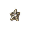 TierraCast Rivetable Star, 11mm Antiqued Brass Oxide Pewter