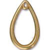 Drop 1.5 Inch Teardrop Pendant, 22kt Gold Plated Pewter