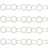 Sterling Silver Italian 11mm Lightly Patterned Round Cable Chain, Per Foot