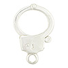 .925 Sterling Silver Handcuff Trigger Clasp, 21mm
