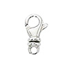 Sterling Silver Swivel Lobster Claw Clasp 7x13mm. Per Piece