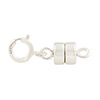 .925 Sterling Silver 16mm x 5mm Magnetic Clasp w/Spring Ring