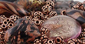 Copper Beads are a perfect fit with Venetian Glass Beads