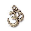 OM Charm Oxidized Brass