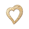Heart Drop Antiqued Gold Plated Pewter 20mm