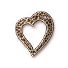 Heart Drop Brass Oxide Plated Pewter 20mm