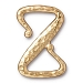 Clasp Z Hook, Bright 22kt Gold Plated Pewter TierraCast