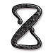 Clasp Z Hook, Black Pewter TierraCast