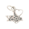 Sterling Silver Charm I Love Yoga