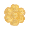 Murano Glass Bead Flower 24mm Gold Foil Clear Gold