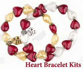 Hearts in a Circle Stretchy Bracele Kits from VenetianBeadShop