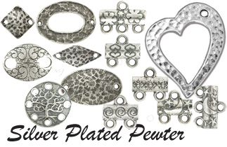 Silver Platet Pewter Findings