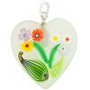Clear Bouquet Heart Transparent, Murano Glass Pendant