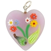 Light Pink Bouquet Heart Transparent, Murano Glass Pendant