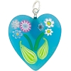 Aqua Bouquet Heart Transparent, Murano Glass Pendant