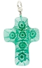 SeaFoam Millefiori Mini Crosses