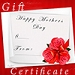 Gift Certificate Happy Mothers Day $25.00
