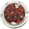 Murano Glass Purse Holder, Red with Silver Foil & Multi Colors, Millefiori