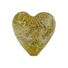 Golden Sparkles Dichroic Heart 20mm Clear