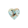 Celeste Aqua Bed of Roses Heart 16mm, Murano Glass Bead