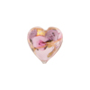 Pink Bed of Roses Heart 16mm, Murano Glass Bead