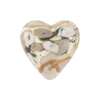 Gray Bed of Roses Heart 20mm Venetian Glass Bead
