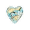 Celeste Aqua Bed of Roses Heart 20mm Venetian Glass Bead