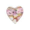 Alessandrite Bed of Roses Heart 20mm Venetian Glass Bead